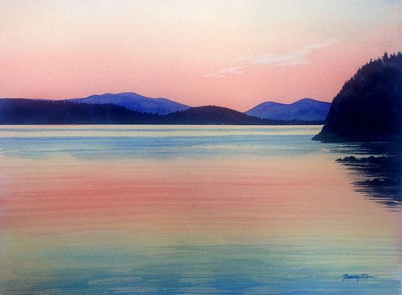Orange Island Sunset