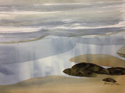 Sand reflections -Yachats