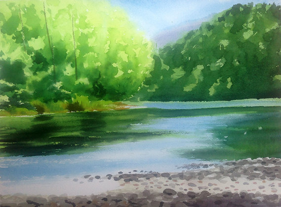 Coquitlam River En Plein Air