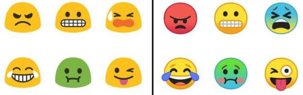 Emojis do Andoird 8