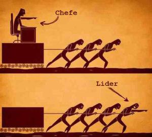 Diferença de chefe e líder