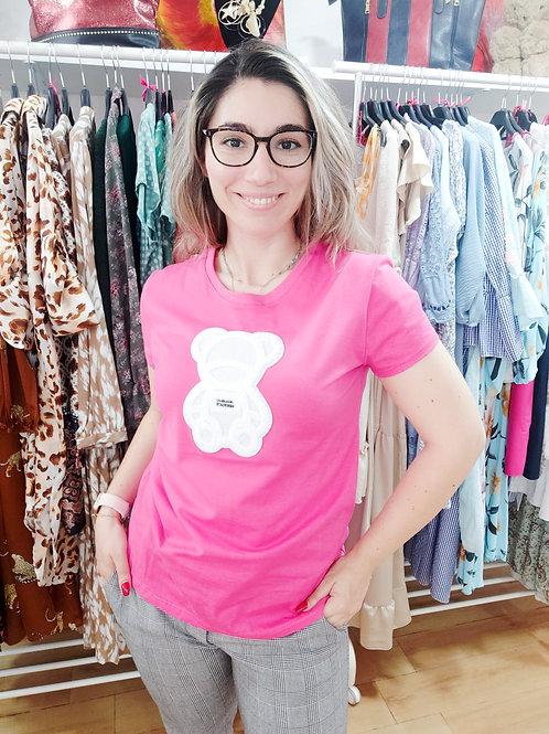T-shirt Urso Rosa