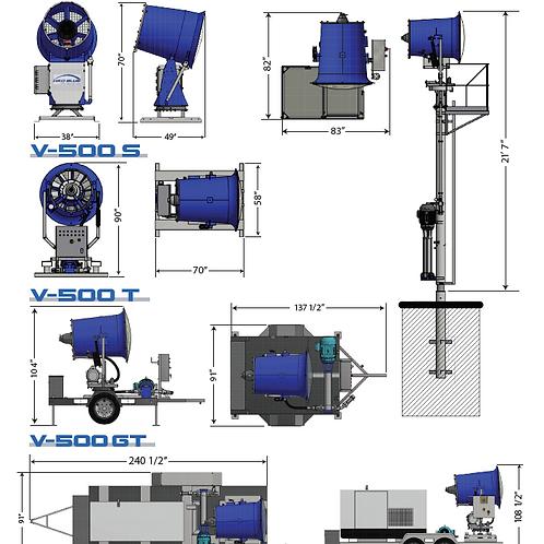 Canon à eau (abât-poussières / évaporateur) V-500 FX
