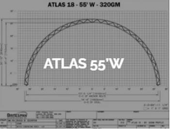 Dôme Britespan ATLAS 55' W