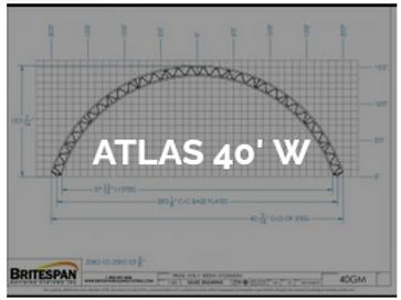 Dôme Britespan ATLAS 40' W