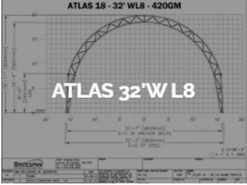 Dôme Britespan ATLAS 32' WL8
