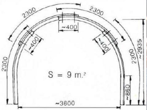 Arche en acier (soutien de terrain)