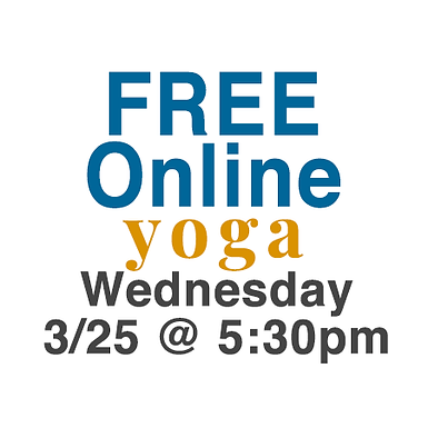 FREE Online community yoga class