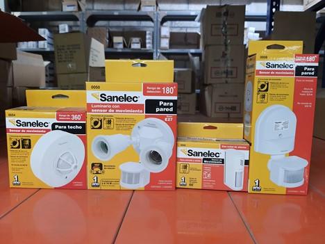 Luminarios con sensores de movimiento Sanelec