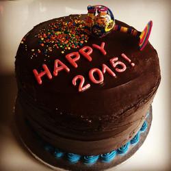 New Years Devils food cake!