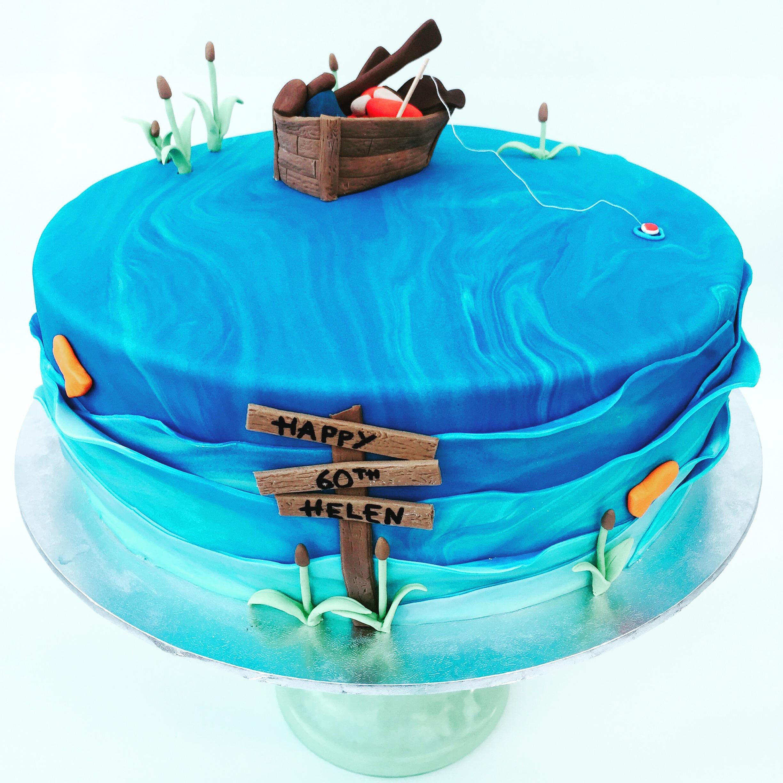 Fishing 60th Cake
