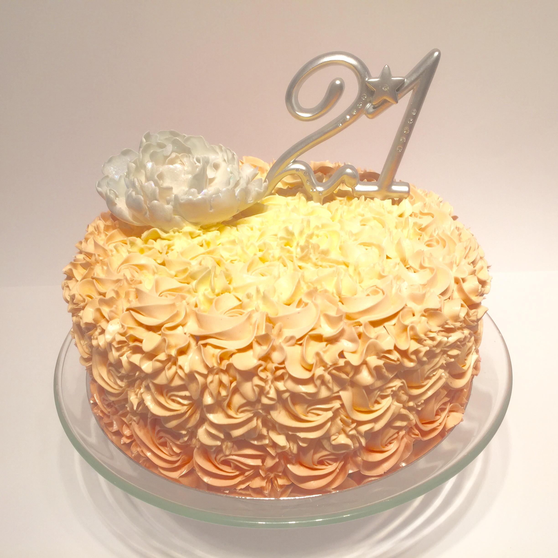Rosette 21st Cake