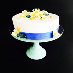 Frangipani Seashell Cake