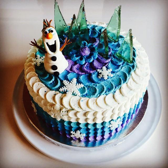 Frozen 7th birthday cake