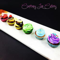 Rainbow Selection Cupcakes