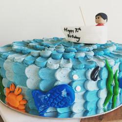70th Fishing Cake
