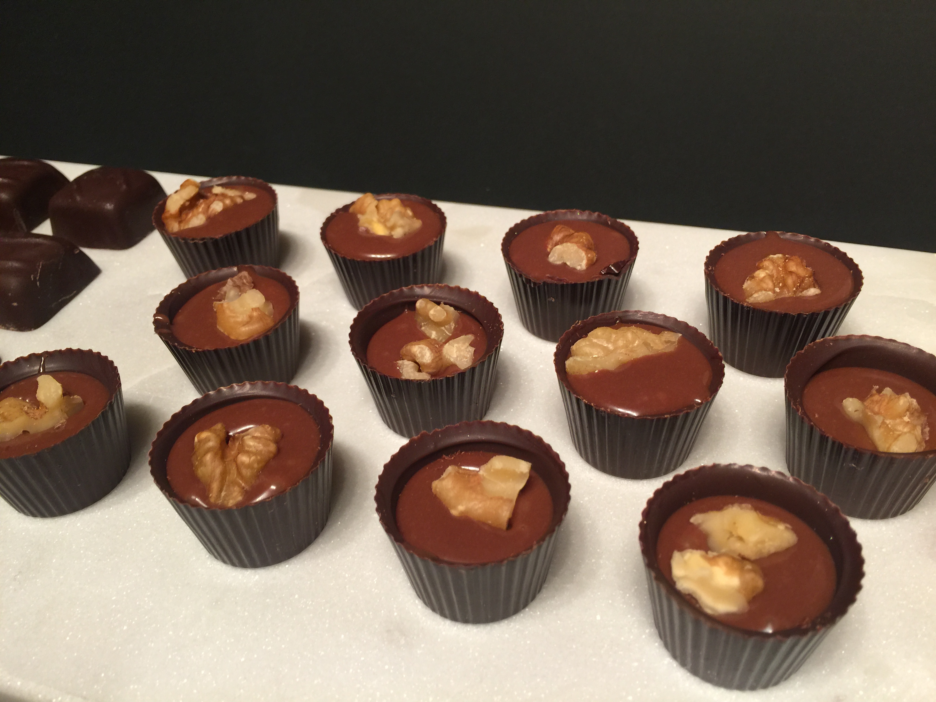 Whiskey and Walnut Truffle Cups