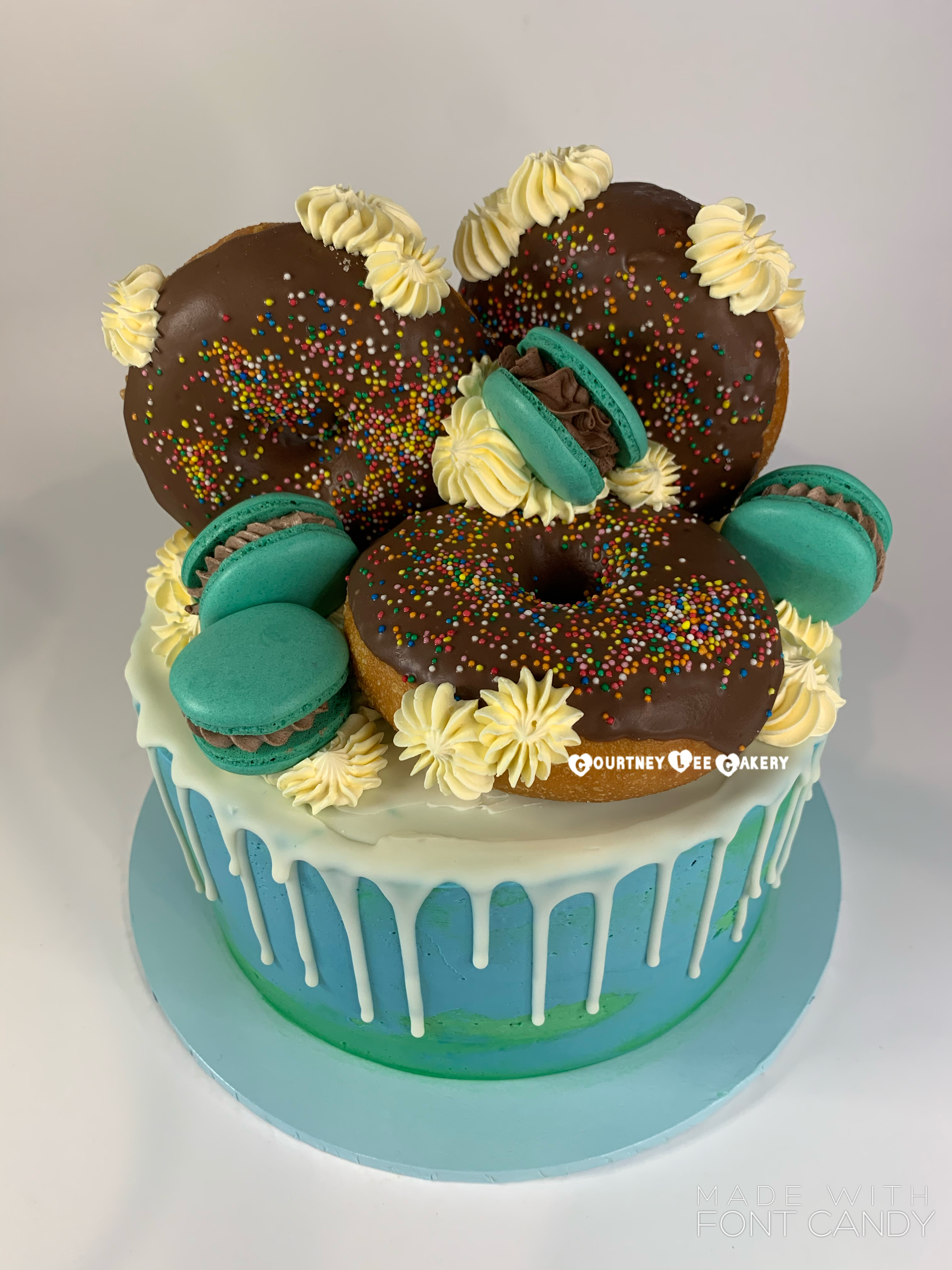 Donut Macaron Cake