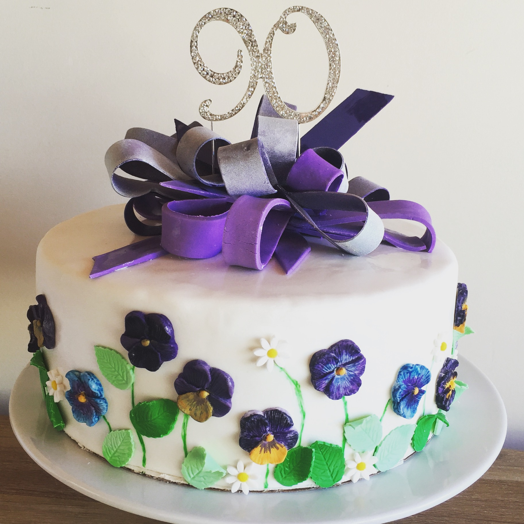 90th Pansy Cake