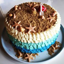 Summer seaside cake
