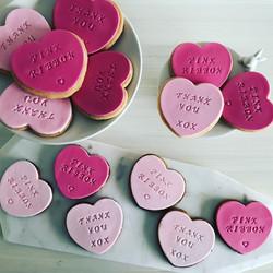 Pink Ribbon Cookies