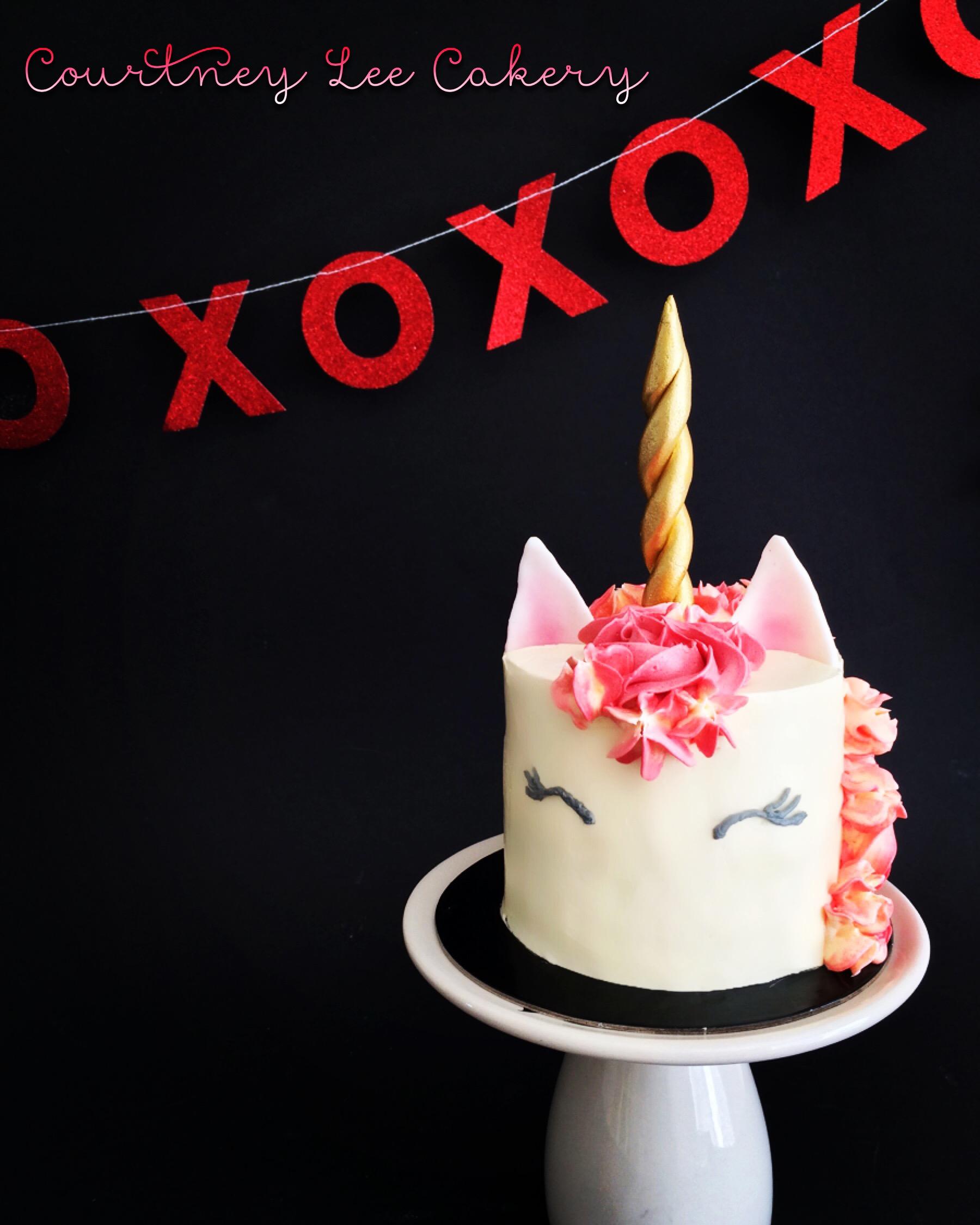 Unicorn Mini Couples Cake