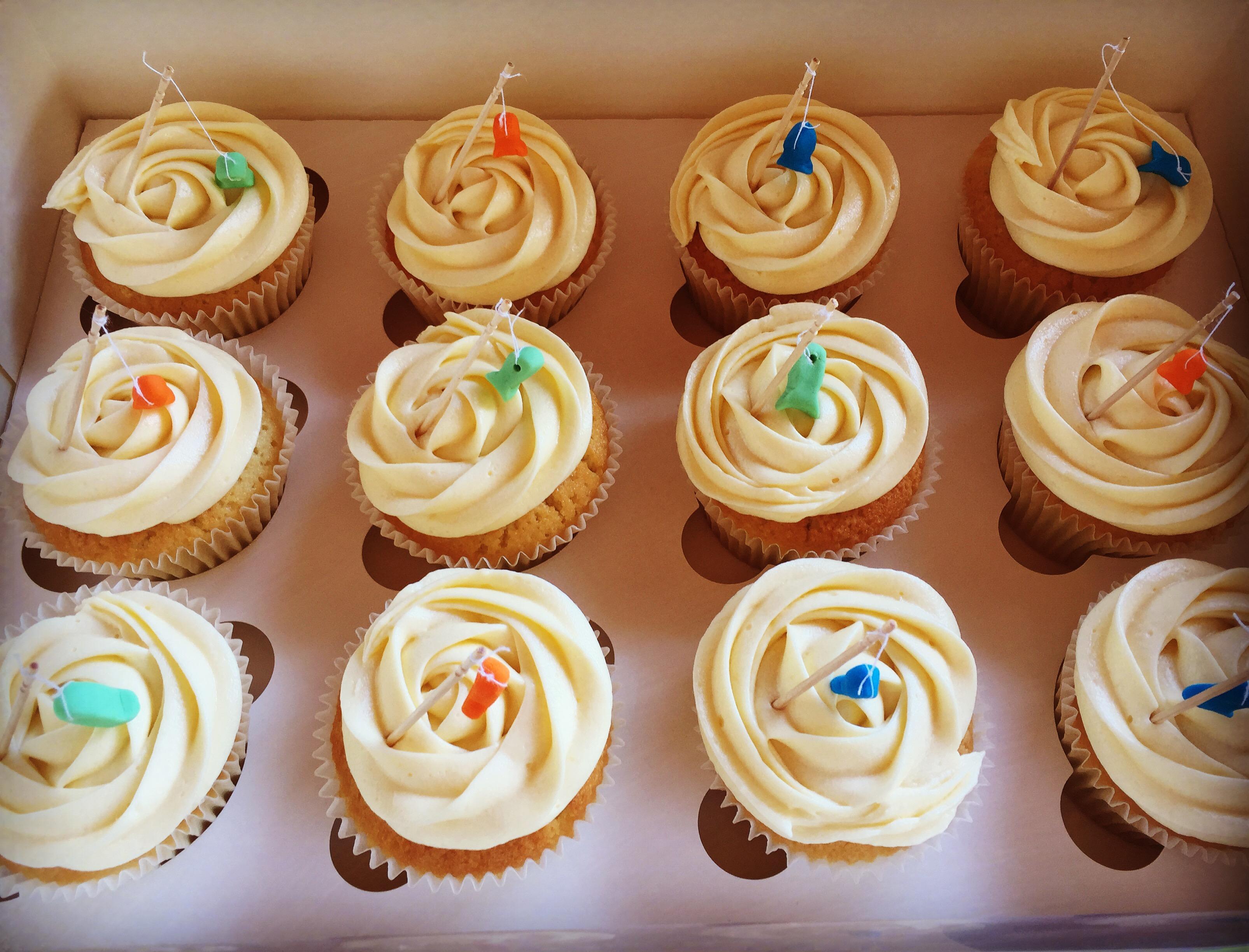 Fishing Theme Cupcakes
