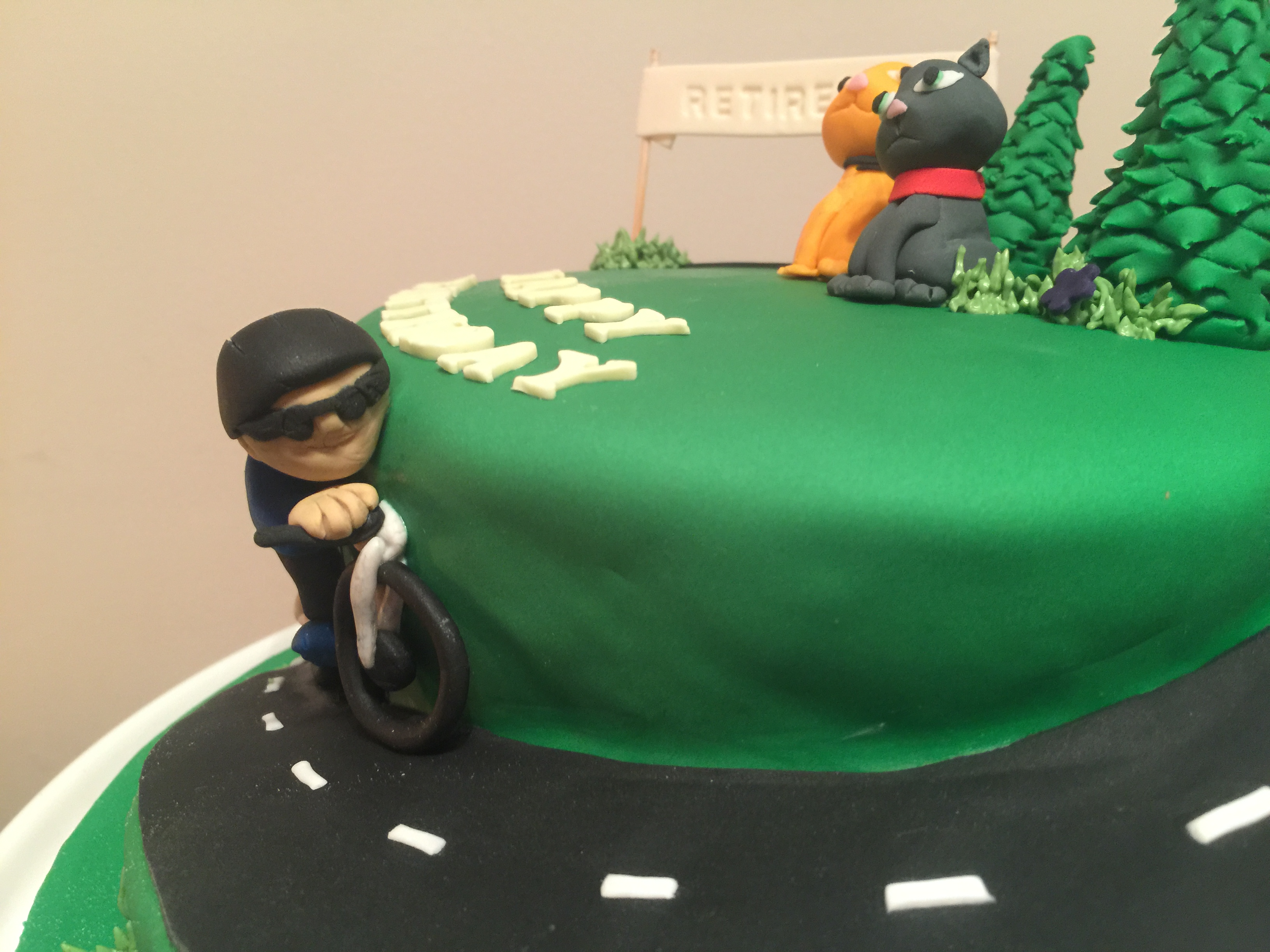 Cycle Birthday Cake