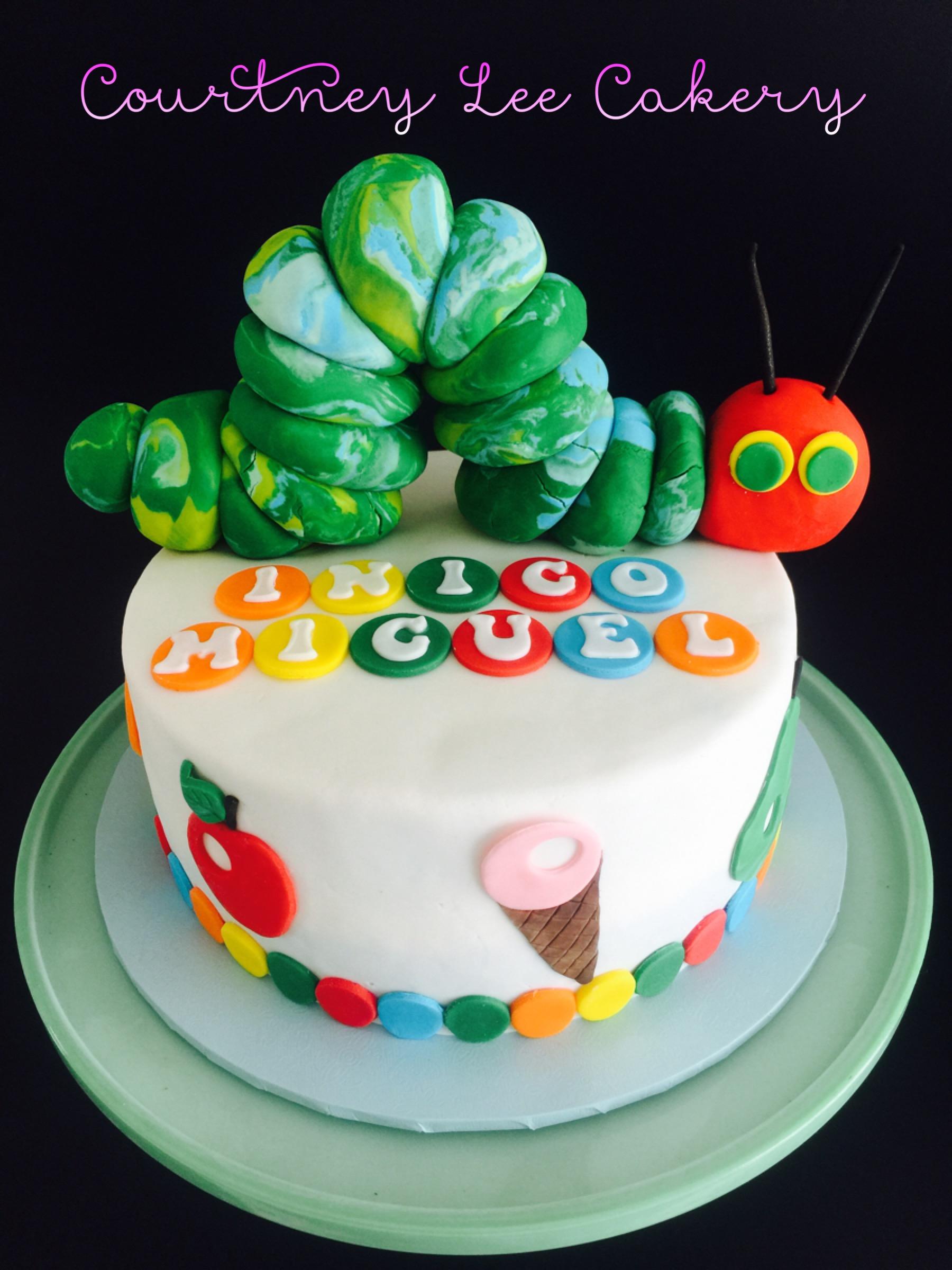 Hungry Little Catapillar Cake