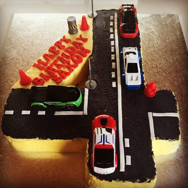 Saxons 4th Birthday cars cake