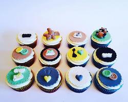 Chocolate and hazelnut cupcakes with vanilla buttercream #babyshower_edited