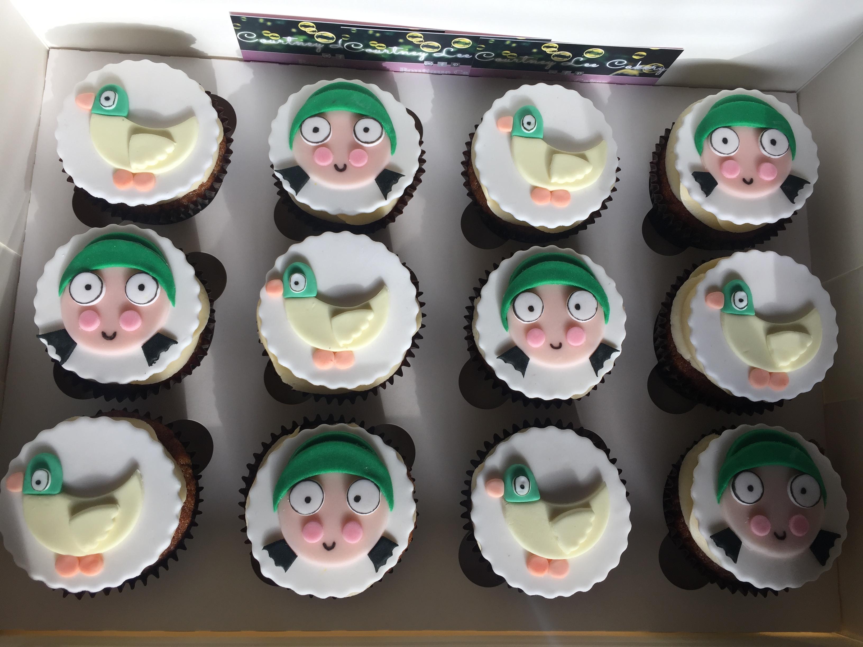Sarah and Duck Cupcakes