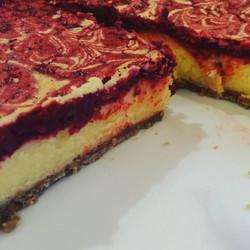 Red Velvet Baked Cheesecake