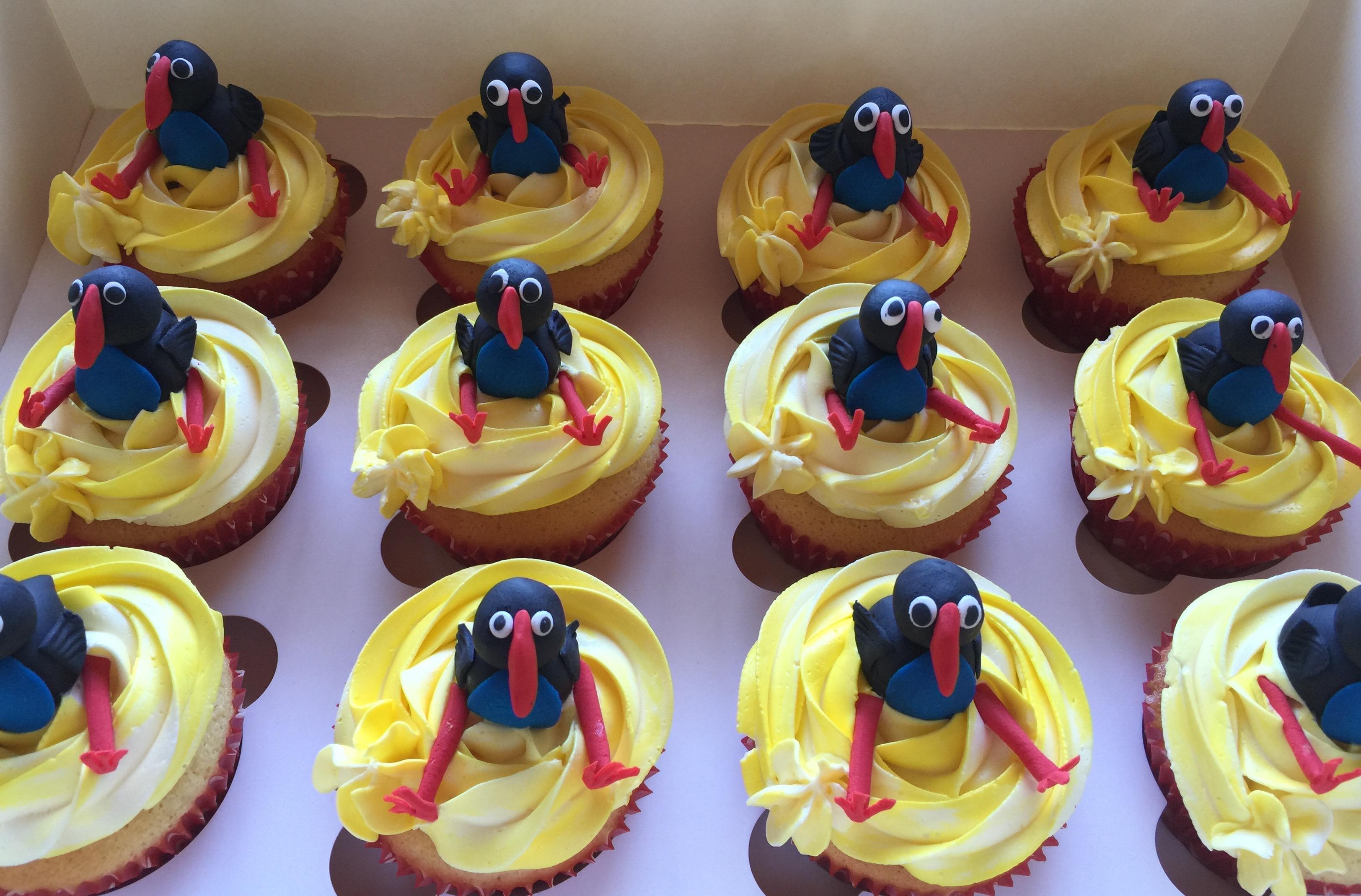 Pukeko Cupcakes