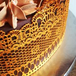 Chocolate Cake (Lace work)
