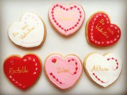 Personalised Valentines Cookies