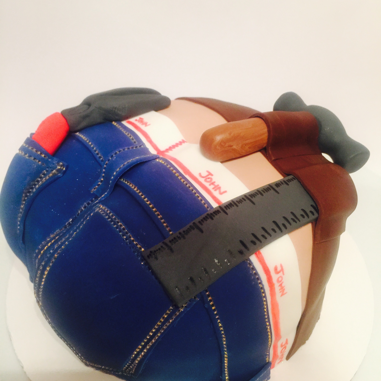 Builders Crack Cake