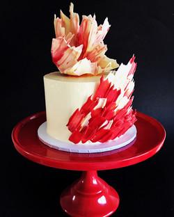 Brush stroke Cake