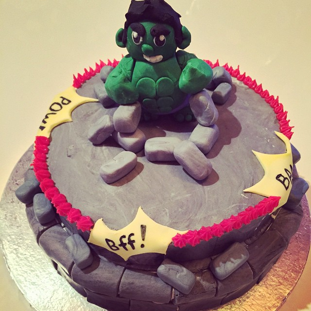 Hulk 5th birthday cake