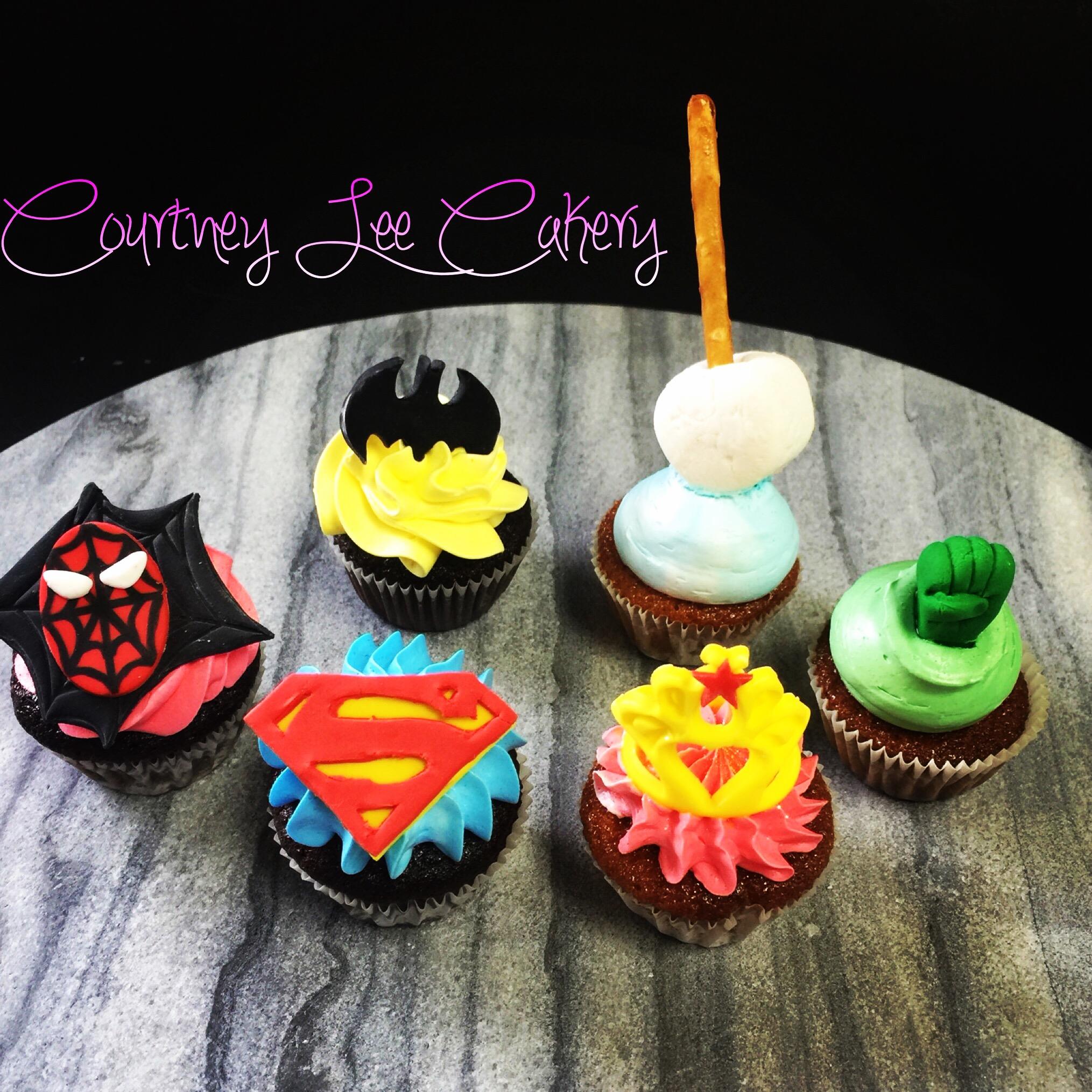 Super Hero Mini Cupcakes