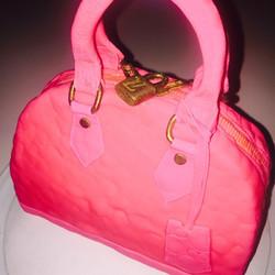 "The $20,000 Louis Vuitton Alma BB hand bag... ""Cake style"""