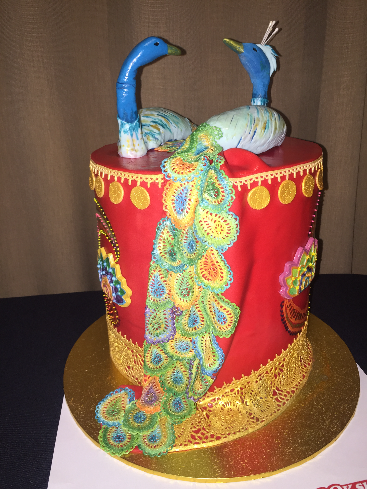 Indian Peacock Cake