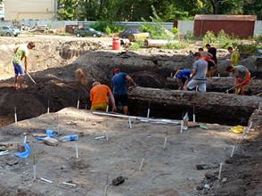 В центре Воронежа археологи обнаружили артефакты