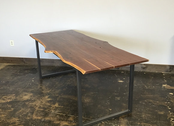 Antique Walnut Live Edge Dining Table