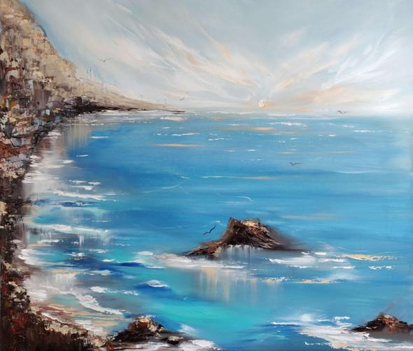 Blue Seashore | Oil