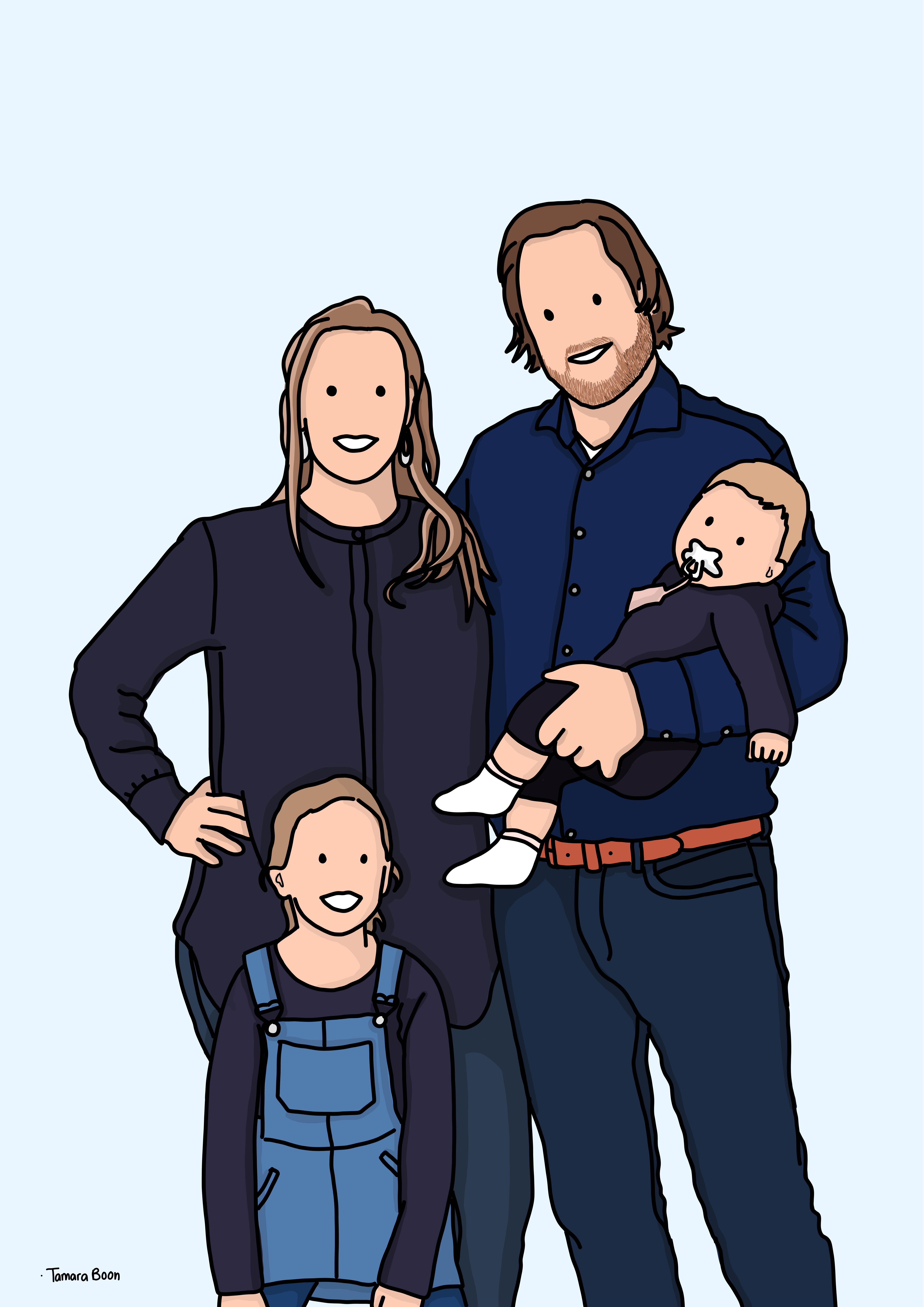 portret gezin