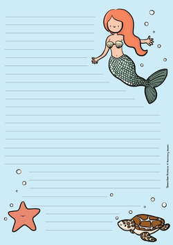 Schrijfblok zeemeermin
