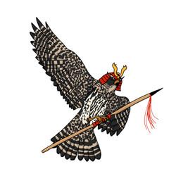 Vogel samurai