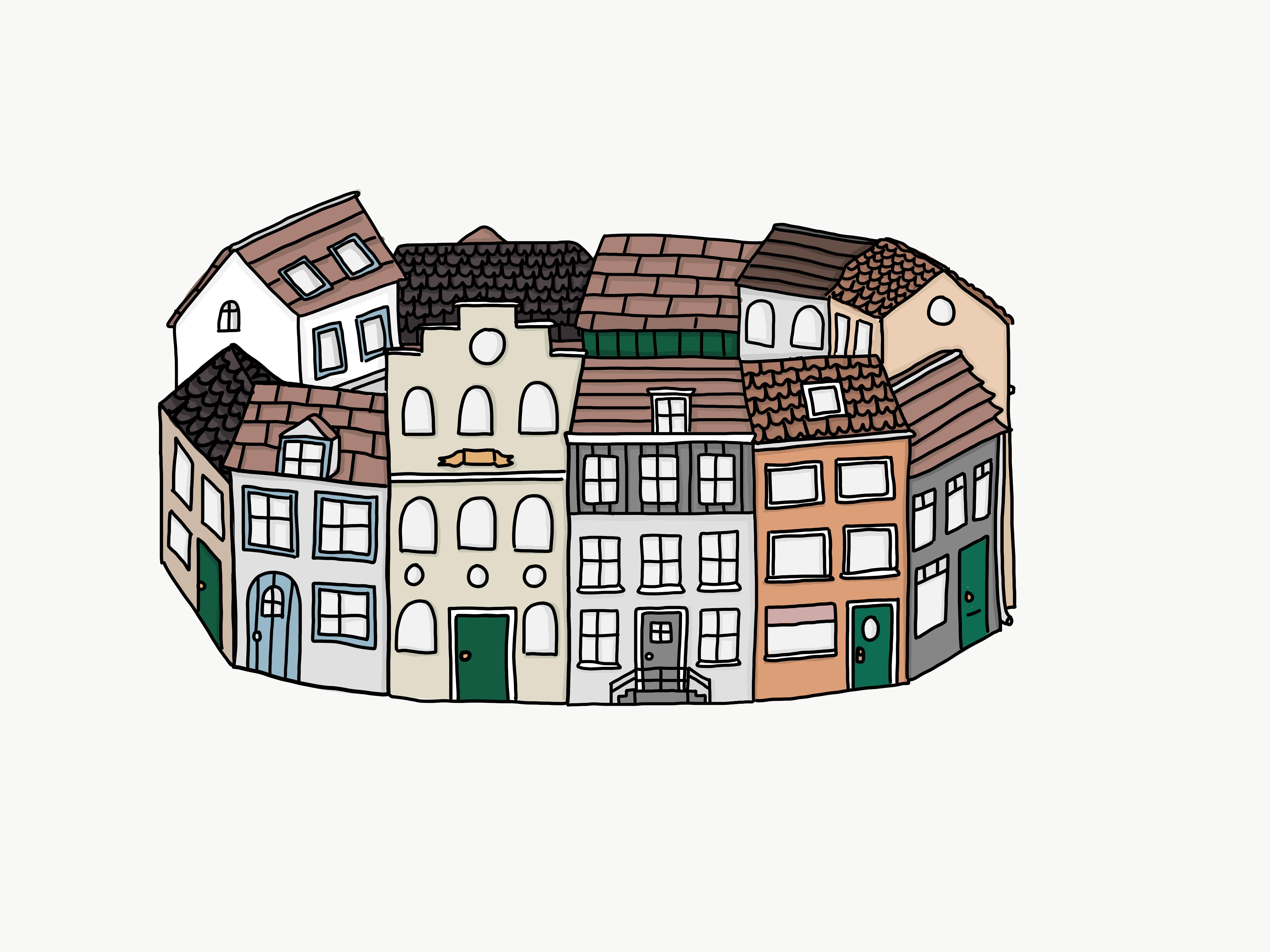 rondje huizen