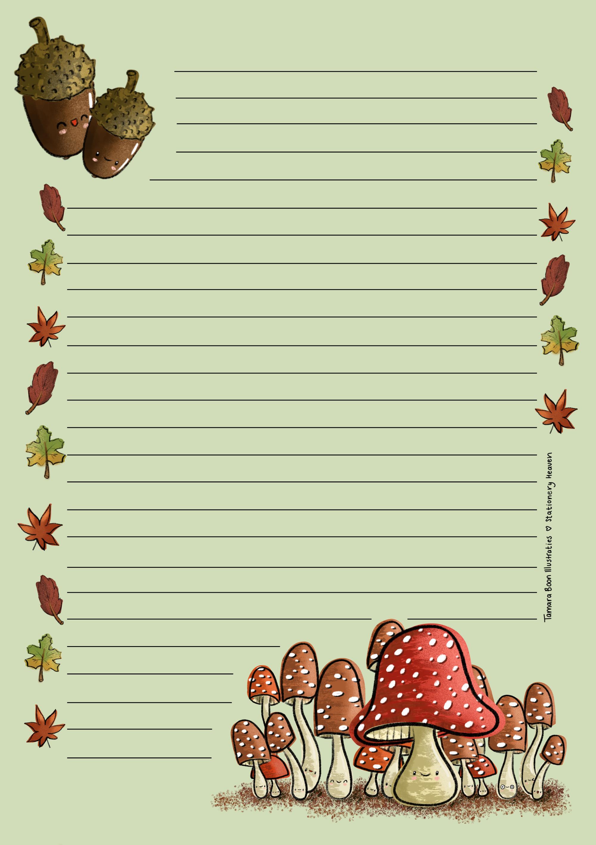 schrijfblok autumn